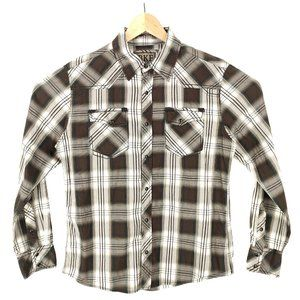 Buckle BKE Pearl Snap Shirt M Button-Up Plaid